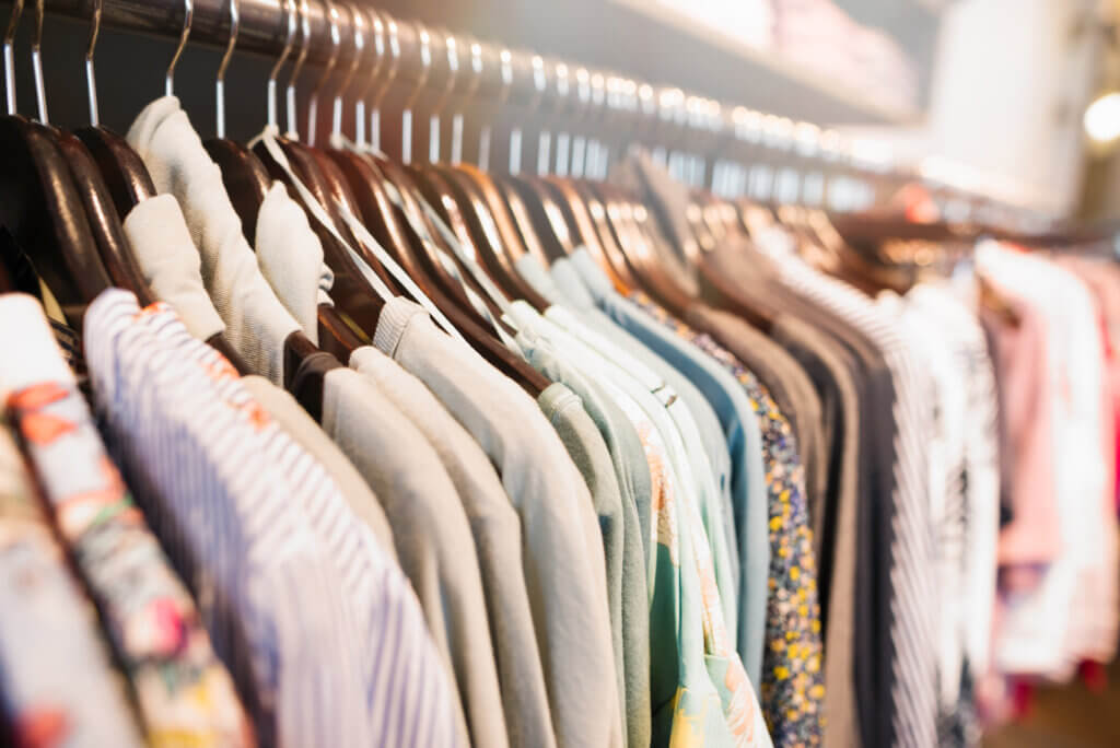 clothing in the closet